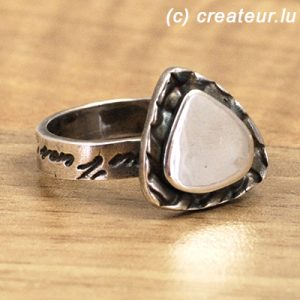 Designerring aus Art Clay Silber