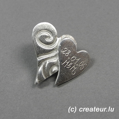 Schmuckstück aus Grundkurs Art Clay Silber © createur.lu
