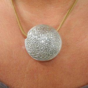 Linsenperlen mit Artclay Silber