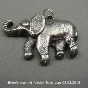 Silikonformen mit Artclay Silber