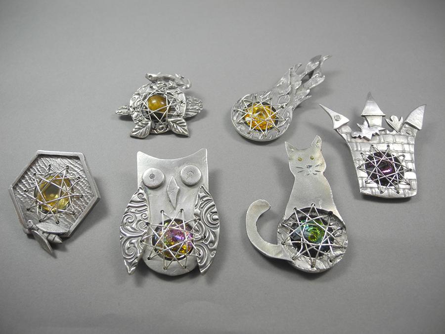 Silver meets Swarovski Workshop, Schmuckstück aus dem Workshop