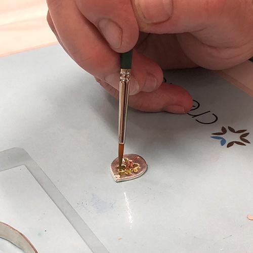 Patina Farbeffekte auf Art Clay Silber